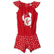 Adidas Disney Niños Traje Minnie Maus Mono Una Pieza Verano Niñas Rojo