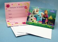 ** Pack of 8 Frozen Elsa, Anna & Olaf Birthday Party Invitation with Envelops **