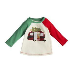 Mud Pie H1 Kids Alpine Village Boy's Christmas Tee T-Shirt - Camper Choose Size