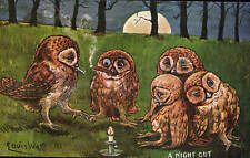Louis Wain Owls. A Night Out by Wrench.