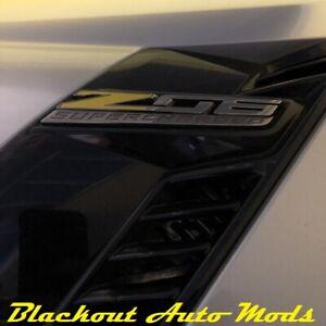 2015-2019 C7 Z06 Corvette Yellow Z Decal Overlay for Fender Emblems