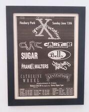 More details for the cure*carter usm*finsbury park*1993*original*poster*ad*framed*fast world ship