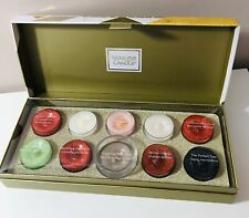Yankee Candle Christmas Gift Set 10 Tea Light Candles New Lovely Gift