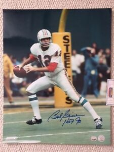 BOB GRIESE SIGNED 16x20 PHOTO      MIAMI DOLPHINS    HOF 90     MOUNTED MEMORIES
