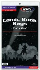 "BCW Silver Age Thick Comic Book Bags 7 1/4"" x 10 1/2"" - Qty. 1,000"