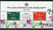 Dutch Caribbean Bonaire 2016 MNH Kingdom of Netherlands 200 Years 2v M/S Stamps