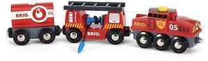 Brio RESCUE FIRE FIGHTING TRAIN Wooden Toy Train
