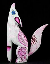 Alebrije Coyote Oaxacan Wood Carving Mexican Folk Art Handcrafted Sculpture