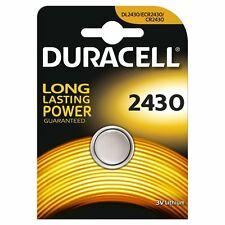 1x DURACELL 2430 3V litio moneta cella Batteria CR2430 DL2430 K2430L ecr2430