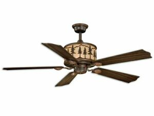 🔥56W Ceiling Fan Vaxcel Yellowstone Rustic Country Lodge Remote Light FN56305BB