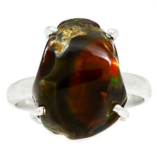 Mexican Fire Agate 925 Sterling Silver Ring Jewelry S.9 MFAR196
