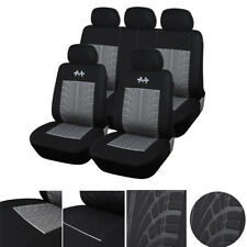 Standard Edition Car 5 Seats Cover Set Durable Anti-Scratch Protector Black+Gray