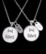 Souls Sisters BFF Best Friend Gift Friendship Necklace Set