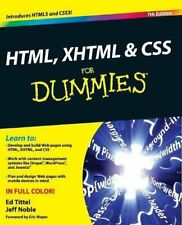 HTML, XHTML   CSS FD, 7E (For Dummies)-Tittel,Noble