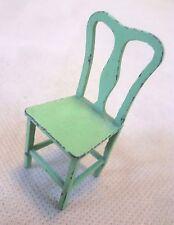 Muebles Vintage Casa De Muñecas-silla De Metal Pintado Verde Tootsie Toy #3 - Raro