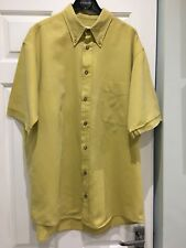 Jaeger Yellow Short Sleeve Shirt Size M.