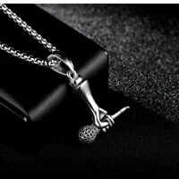 3 PCS Tibetan Silver heart key Pendant Necklace #20098