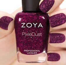 ZOYA ZP765 NOIR Ultra PixieDust plum nail polish w/ red mega hex particles *NEW