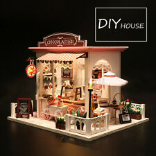 3D Doll House Miniature Furniture Diy Kit Toy W/ Led Light Gift Chocolate Shop