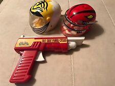 Lot of 2 Power Rangers Motorcycle Helmet Racing Launchers + Hot Shot Launcher