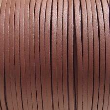 Lot de 3m fil suédine 3mmx1mm cordon daim velvet textile marron moyen cuir *C200