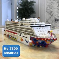 Baukästen Luxus Kreuzfahrtschiff Großes Boot Diamond Mini Bausteine Konstruktion