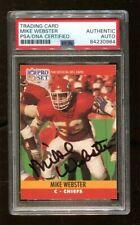 Mike Webster Signed 1990 Pro Set #537 Autographed Chiefs PSA/DNA
