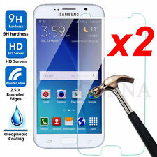 2Pcs Real 9H Tempered-Glass Film Screen Protector Guard Cover For Samsung Galaxy
