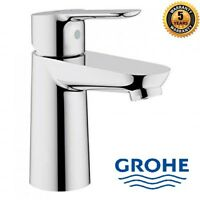 GROHE BauEdge Single Lever Mono Basin Mixer Tap 23330000 Chrome with Flexi Hoses