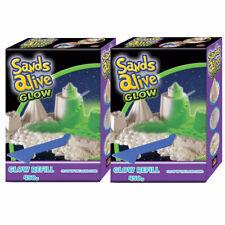Sands Alive Glow in the Dark Sand Refill Packs 900g Starter Set Modelling Games