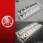 YAMAHA Chrome Metallic Stickers 3D Decal Logo 3M Strong Glue Fuel Gas Tank Moto