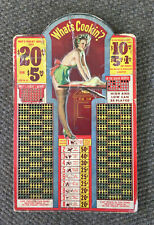 Vintage Sexy Pin-Up Trade Stimulator Punch Board What's Cookin? Risqué Kitchen
