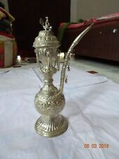 Rare Antique Old White Metal Handcrafted Engraved Hukka Huka Hookah Collectible