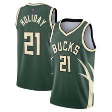 Mens Milwaukee Bucks Earned Edition Swingman Jersey - Jrue Holiday