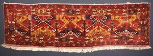 Antique Ersari Beshir Turkmen Torba, Unusual Design, Circa 1900.
