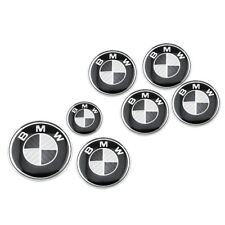 8Pcs Black Carbon Fiber Look Car Body Emblem Badge W/ Base For BMW Free shipping