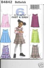 B4842 TODDLERS/GIRLS JUMPERS   SIZE  1-3 NEW BUTTERICK SEWING PATTERN 4842