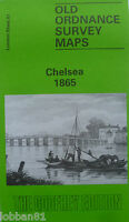 OLD ORDNANCE SURVEY DETAILED  MAPS CHELSEA LONDON 1865 Godfrey Edition New