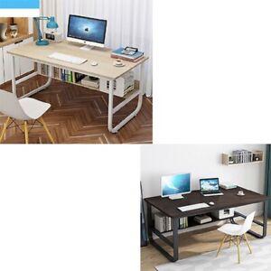 Computer Desk Study Desk Workstation PC Laptop Table Home Office Shelves Small
