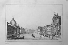1834.Stampa/Acciaio = CANAL GRANDE a ..VENEZIA = VENETO.Italie Pittoresque.ETNA