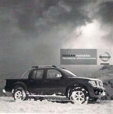 NISSAN NAVARA PICK UP 2008-09 UK mercato specifica opuscolo KING DOPPIA CABINA