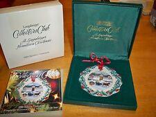Longaberger 1999 Collectors Club Christmas Ornament Riding Through The Snow