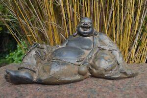 Buddha liegend lachend Deko Figur