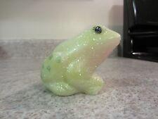 "Fenton Glass  ""Springtime Glitter"" Handpainted Frog , new in box"