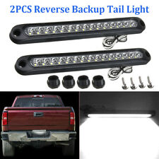2x White 15-LED Light Bar Stop Turn Tail Reverse Backup Truck Trailer Waterproof
