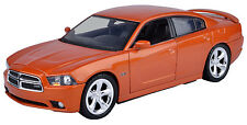 New Motormax - 2011 Dodge Charge R/T Orange Die-Cast Collection 1:24 - 73354