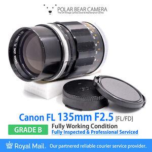 ⭐SERVICED⭐ CANON FL 135mm F2.5 *8 BLADES* FULL FRAME Lens + Caps [GRADE B]