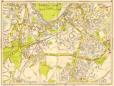 SURBITON Esher Thames Ditton Chessington Tolworth. GEOGRAPHERS' A-Z 1956 map