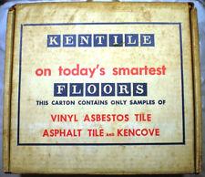 Vtg KENTILE FLOORS Inc Vinyl ASBESTOS Tile Samples 1965 HUGE LOT! RARE!