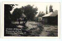 RPPC Flood Stream HAMMONDSPORT NY Keuka Lake Yates Co Real Photo Postcard